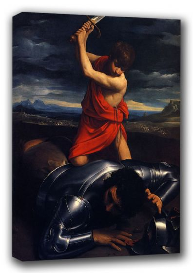Reni, Guido: David and Goliath. Biblical/Religious Fine Art Canvas. Sizes: A3/A2/A1 (00144)